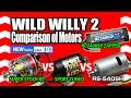 TAMIYA Wild Willy 2WR-02 Comparison of Motors PART 3/3 SUPER STOCK RZ vs SPORT TUNED vs RS-540SH