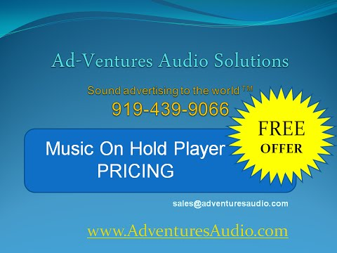 Music On Hold Player Equipment | Pricing