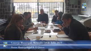 Concejo Municipal Miércoles 10 de Julio 2019 - El Quisco