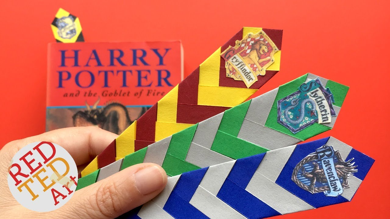 graphic about Harry Potter Printable Bookmarks identified as Uncomplicated Harry Potter Bookmark Do-it-yourself - How in the direction of produce a Chevron Bookmark Do it yourself - Very simple Paper Bookmark Programs