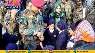 MS Dhoni surprises Army Public School students in Srinagar