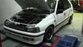 Daihatsu Charade GTti CB70 1L Turbo Dyno Run [HD] - LOUD EXHAUST Cover your ears!