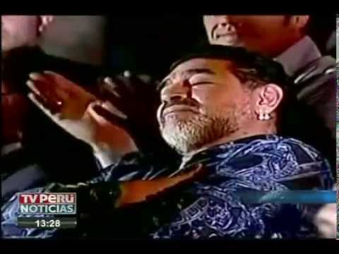 Venezuela: Maradona se quedó dormido durante discurso de Maduro
