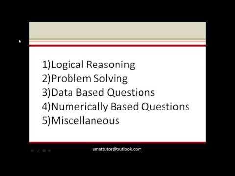 UMAT Section 1, Tutorial 1: The Basics
