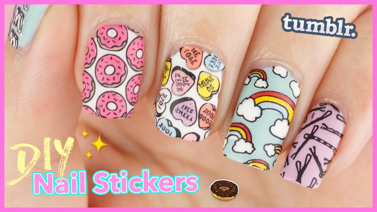 How to: DIY Nail Stickers | Nail Decals & Reverse Stamping ...