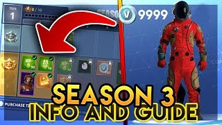 FORTNITE BATTLE PASS SEASON 3 RANK UP REWARDS GUIDE INFO (Tier 70/100) NOUVEAU Fortnite Battle Royale