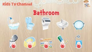 384 Puzzles for Preschool Kids - Children Learn Bathroom equipment | Kids Puzzles Games | Kid Games