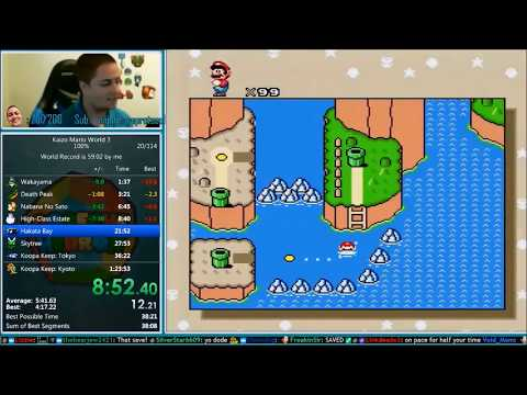 Kaizo Mario World 3 Speedrun 49:30 *100% World Record*