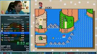 Kaizo Mario World 3 *World Record* any%/100% Speedrun 49:30