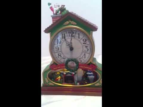 Christmas musical advent calendar clock