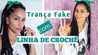 TRANÇA FAKE COM LINHA DE CROCHÊ Por Patty Leite