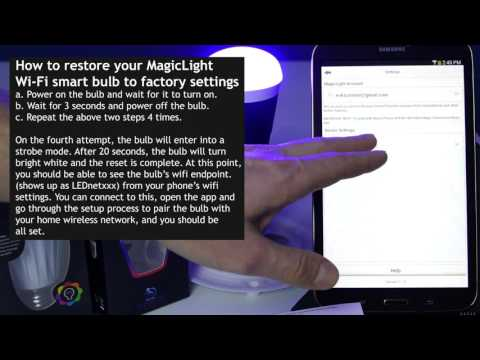 How To Set Up MagicLight WiFi Bulb