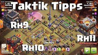 [471] Taktik Tipps 3x Rh9 Rh10 und Rh11 Clanwar Walküren Hogs Hexen | Clash of Clans Deutsch German