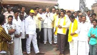 Peram Nagi Reddy speech on Liquor MRP Bike Rally 06.01.12