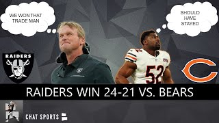 Raiders vs. Bears Reaction After Oakland's 24-21 Win Over Chicago In London From Raider Nation