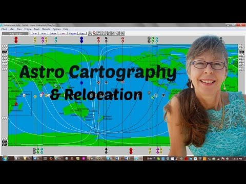 About Astro Map Cartography & How to Use a Relocational Chart