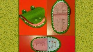 HAND MADE Игольница Крокодилья пасть