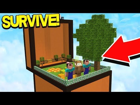 SURVIVNG IN MINECRAFT INSIDE OF A CHEST!