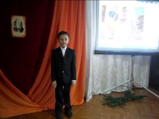Изображение предпросмотра прочтения – БогданДанилкин читает отрывок изпроизведения «Крестьянские дети» Н.А.Некрасова