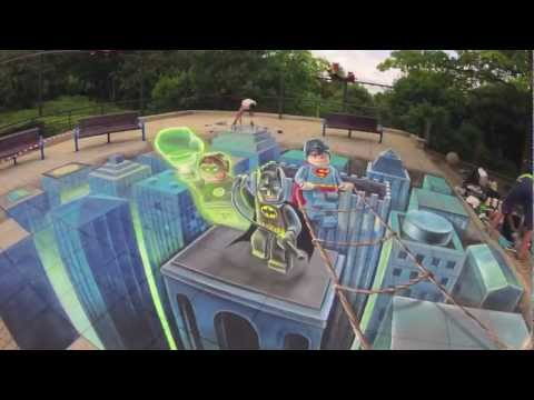 3d Floor Art Lego Superheroes Youtube