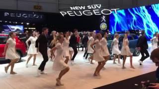Danse sur le stand PSA au salon de Genève 2017 !