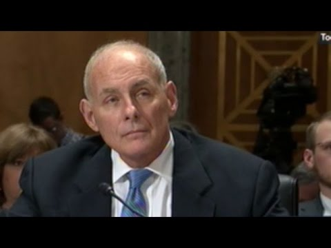 General John Kelly Department Of Homeland Security Confirmation Hearing