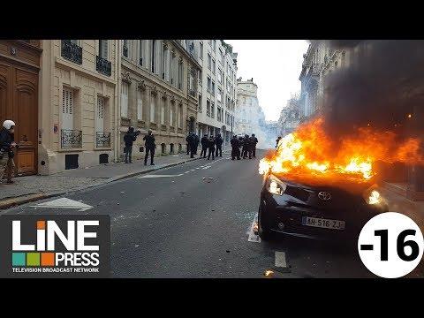 Gilets jaunes Acte 4 - La colère populaire ne faiblit pas / Paris - France 08 décembre 2018