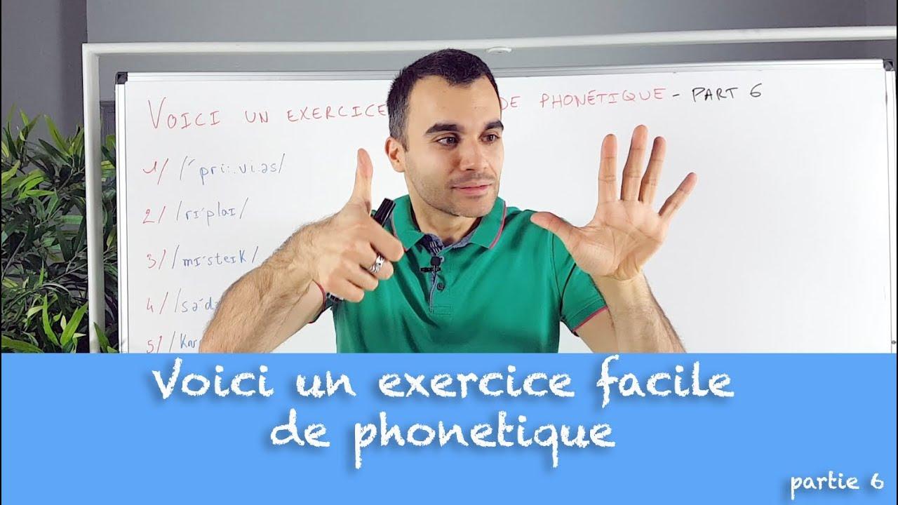Voici un exercice facile de phonétique en anglais - partie ...