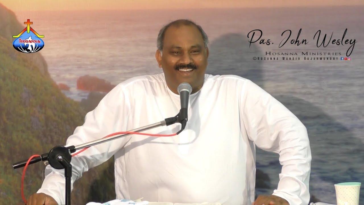 8.7.2018 Ps John Wesley Garu - Sunday Service Live1080p @ Hosanna Mandir Dowleswaram