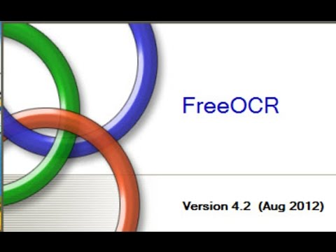 Free Optical Character Recognition Software