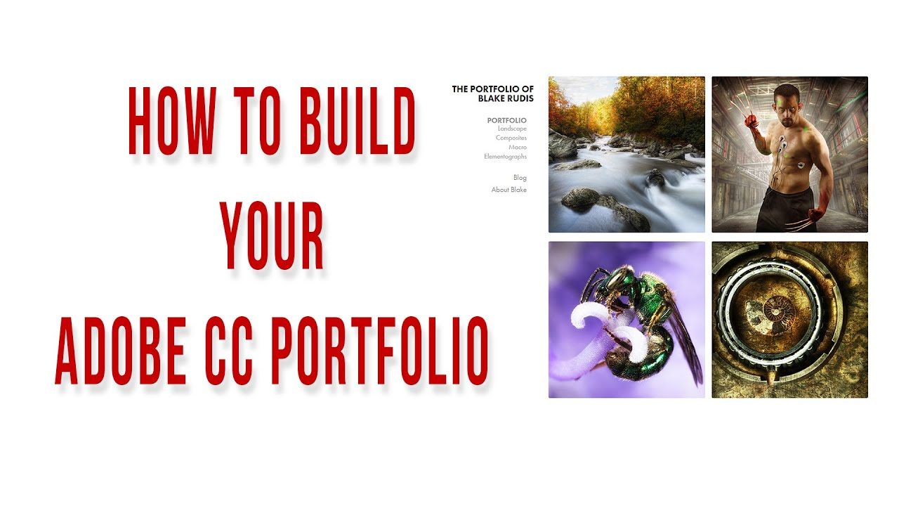 How to Build your Adobe CC Portfolio – Get on the Web!!!!
