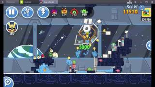 Angry Birds Friends Year In Space Tournament ● LEVEL 1 ● 251 K HD ● Week 199 ●  POWER UP