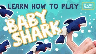 Learn How to play Baby Shark on the Piano - Music Notes - Hoffman Academy
