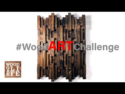 DIY Wooden Wall Art - JUST TWO 2 x 6s! | Woodworking Builds
