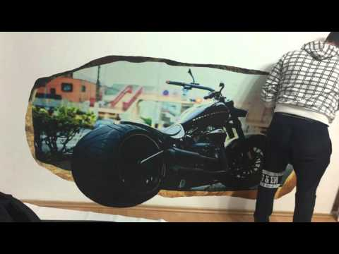 Live Harley Davidson 3D Mural Startonight.