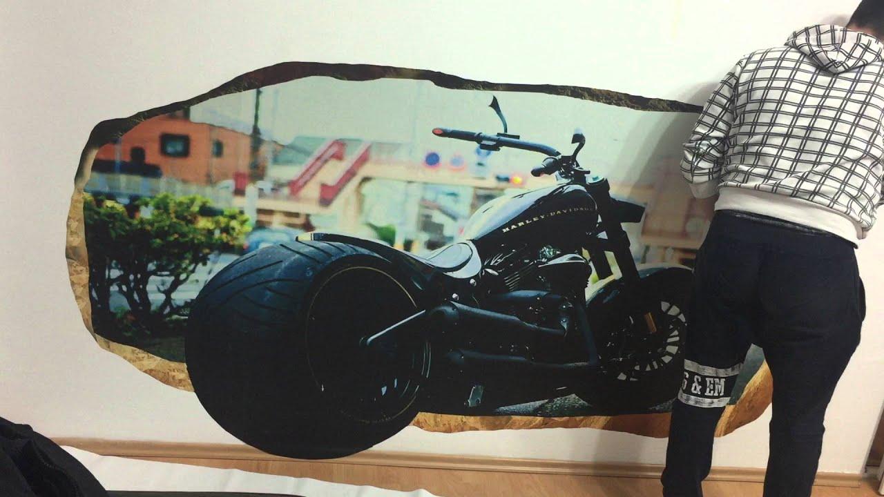 Live Harley Davidson 3D Mural Startonight. Part 80
