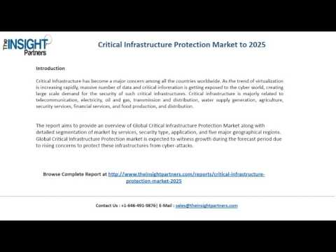 Critical Infrastructure Protection Market Size, Competitive Analysis and Forecast to 2025