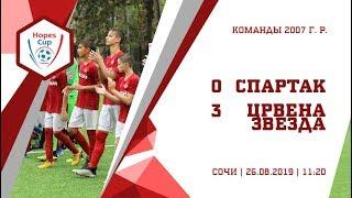 """""""Спартак"""" (2007 г. р.) - """"Црвена Звезда"""" 0:3"""