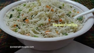 Vegetable Fried Rice - Fried Rice Recipe