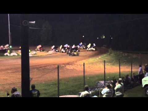 Sprint Car Flip I-30 Speedway