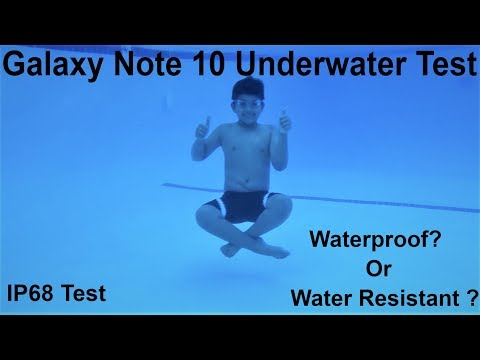 Samsung Galaxy Note 10 / Note 10 Plus Underwater Durability Pool IP68 Test, Waterproof???