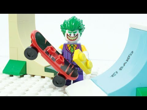 Lego Joker Brick Building Skate Park Superheroes Animation