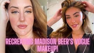 Recreating madison beer's vogue makeup look! // melissa welz/vogue look
