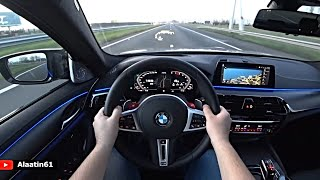 The New BMW M5 Competition 2020 POV Test Drive