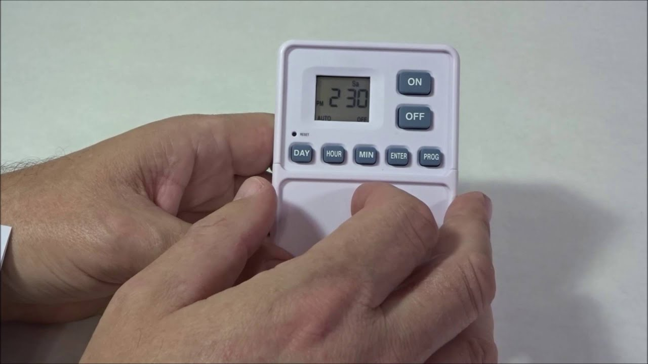 Utilitech Digital Wall Switch Timer How To Program For A One Time On