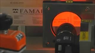 Фармацевтическая автоматическая этикетировка назального спрея.