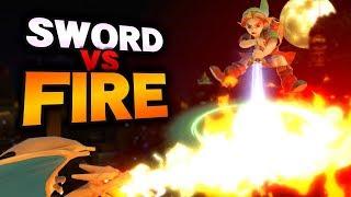 Who Wins? Kokiri Sword vs Fire Breath [SMASH REVIEW#16]