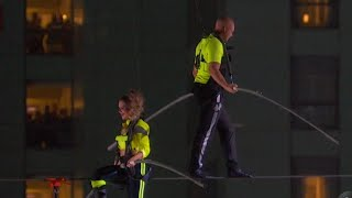 Nik Wallenda Successfully Walks High Wire in New York City