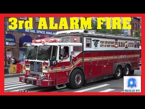Manhattan 3rd Alarm Major Fdny Response Lots Of Lights Siren