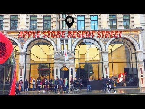 Vlog 2 : Apple Store Regent Street London || Buy AirPods || Lamborghini Aventador In London